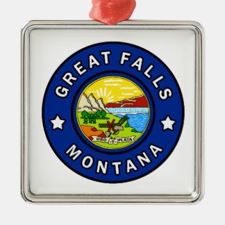 Great Falls Montana Silbernes Ornament