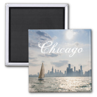 Great Lakes Chicago Magnet Quadratischer Magnet