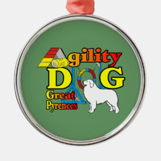 great_pyrenees_agility silbernes ornament