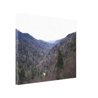 Great Smoky Mountains-Kälte-Tag Leinwanddruck