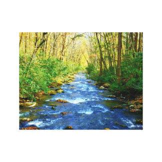 Great Smoky Mountains-Nebenfluss - plappernder Leinwanddruck