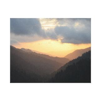 Great Smoky Mountains-Sonnenuntergang Leinwanddruck