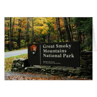 Great Smoky Mountains-Zeichen Karte