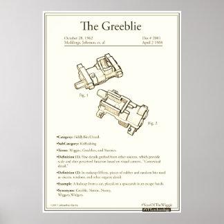 """Greeblie 24"""" x 20"""", Wert-Plakat-Papier (Matt) Poster"""