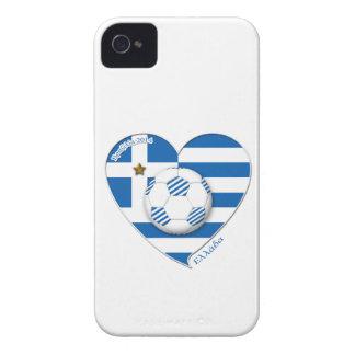 """Greece """"ΕΛΛΆΔΑ"""" Soccer Team. Fußball Griechenland  iPhone 4 Case-Mate Hüllen"""