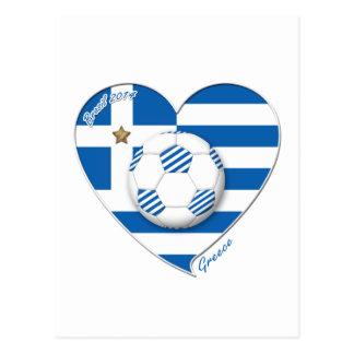 """GREECE"" Team soccer. Fußball Griechenland 2014 Fo Postkarte"