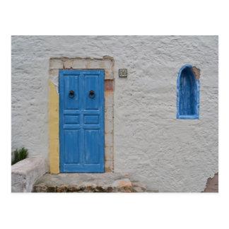 Greek house postkarte