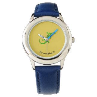 Greem Eidechse Armbanduhr