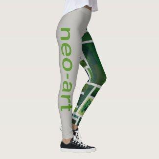 Green 9 leggings