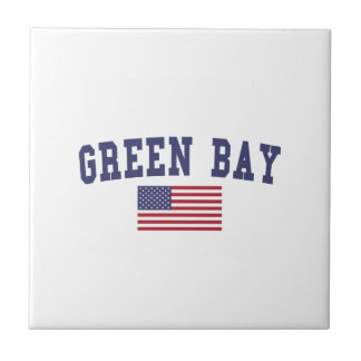 Green Bay US-Flagge Fliese