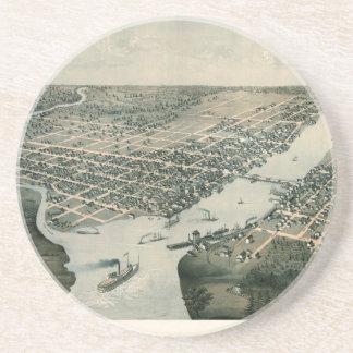 Green Bay Wisconsin 1867 Sandstein Untersetzer