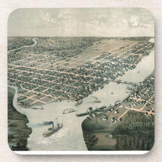 Green Bay Wisconsin 1867 Untersetzer