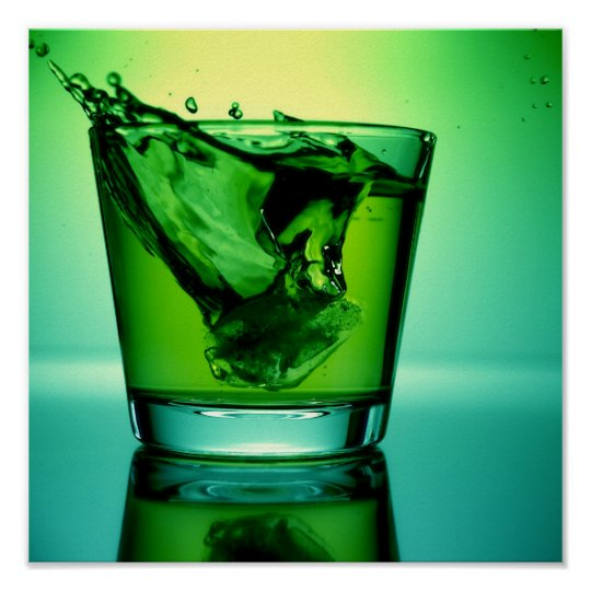 Green Cocktail Poster