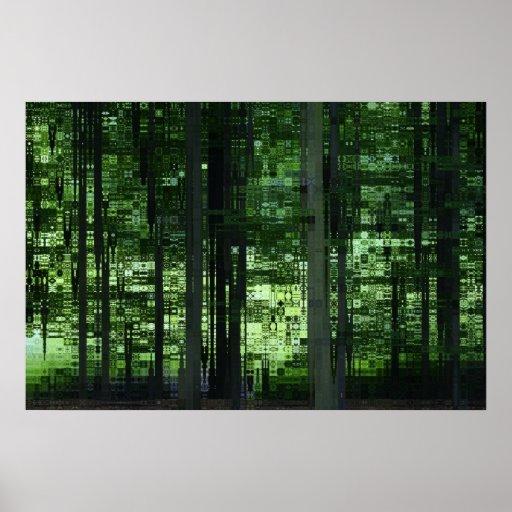 Green Forest Posterdrucke