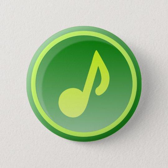 green music icon runder button 5,7 cm