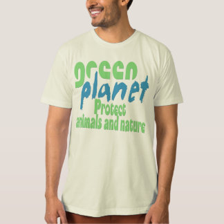green planet - protect animals and nature -..- hemd