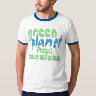 green planet - protect nature and animals -.- tshirt