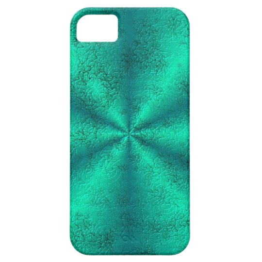 Green Rainbow in Elephant Skin Leather Optic iPhone 5 Etui