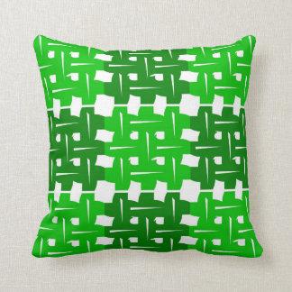 green Squares Zierkissen