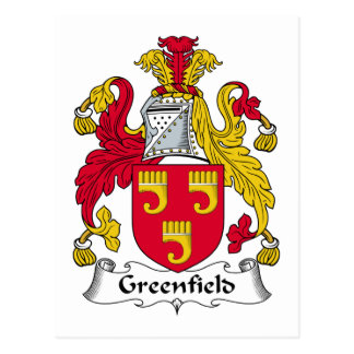 Greenfield-Familienwappen Postkarte