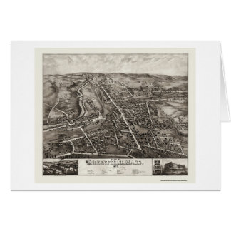 Greenfield, panoramische Karte MAs - 1877