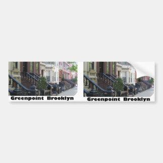 Greenpoint Brookyly Brownstone-Gebäude Autosticker