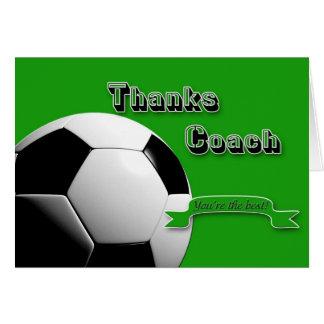 GreenThanks Fußball-Trainer Grußkarte