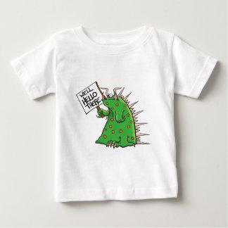 Greep Grafik-Brunnen hallo dort Baby T-shirt