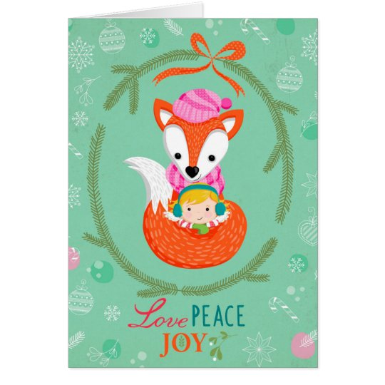 "Greeting Card ""Love, Peace & Joy"" Karte"