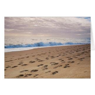 GreetingCard: Abdrücke auf dem Strandsand Karte