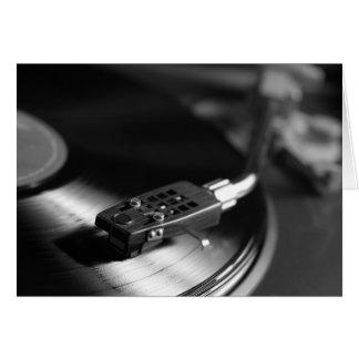 GreetingCard: Vinyl auf einer Turntable Karte