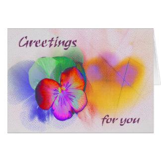 Greetings for you karte