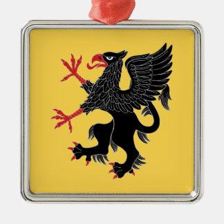 Greif-zügelloser Zobel Silbernes Ornament