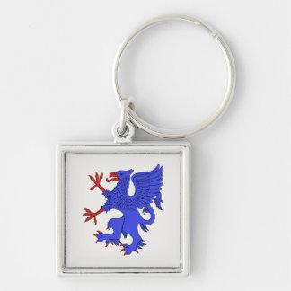 Greif-zügelloses Azurblau Schlüsselanhänger