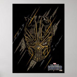 Greifer-Kennzeichen des schwarzen Panther-| Erik Poster