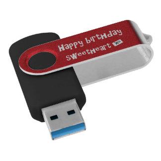Greller Antrieb alles Gute zum Geburtstagschatz USB Stick
