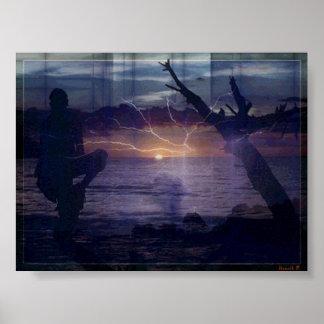 Greller Sonnenuntergang #1 Plakatdruck