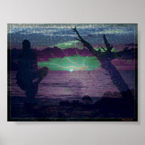 Greller Sonnenuntergang #2 Plakatdrucke