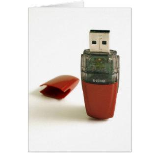 Greller Stift USBs Karte