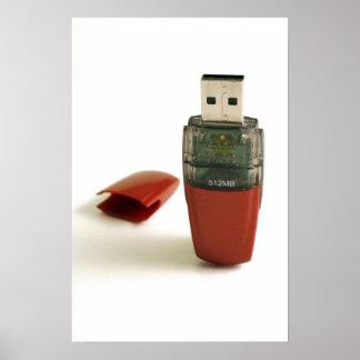 Greller Stift USBs Plakat