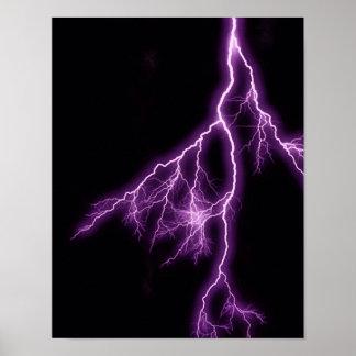 grelles schwarzes lila Gewitter flash-384949 Poster