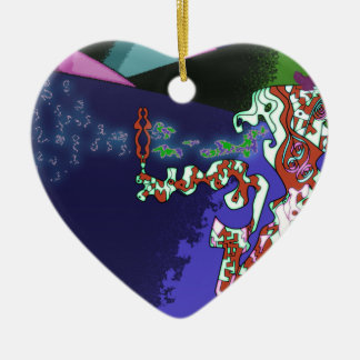 Gremlin Keramik Herz-Ornament