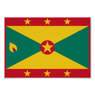 Grenada-Flagge Poster