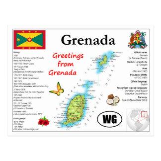 Grenada-Karten-Postkarte Postkarte