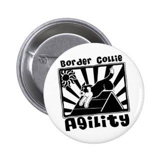 Grenzcollie-Agility Ein-Rahmen Anstecknadelbuttons