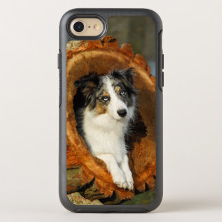 Grenzcollie blaues Merle HundeFoto Phoneprotection OtterBox Symmetry iPhone 8/7 Hülle