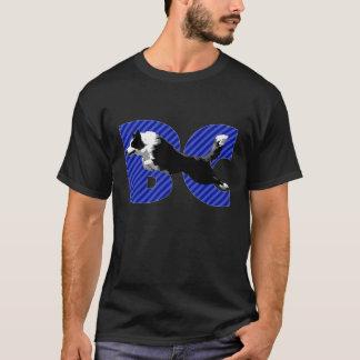 Grenzcollie-Blautext T-Shirt