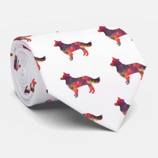 Grenzcollie-geometrische Silhouette multi Bedruckte Krawatten