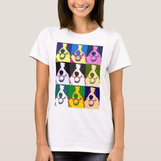 Grenzcollie-Pop-Kunst T-Shirt