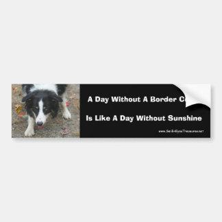 Grenzcolliestare-niedlicher Hund Autoaufkleber